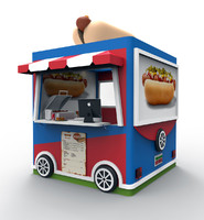 3ds max stand hot dog