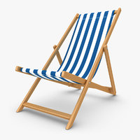 beach chair v2 3d model