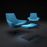 metropolitan-armchair-mp100 3d obj