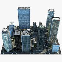 generic city 3d model