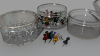 Transparent Thumbtacks (Individual and in Cases)