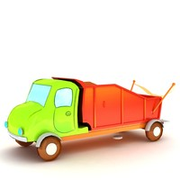 3d model truck cartoon