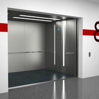 3ds max elevator otis b7ku601