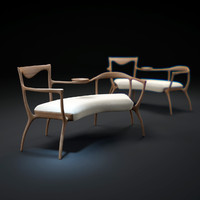 3d slow-wood-armchair model