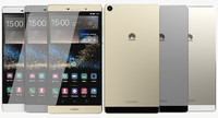 3d realistic huawei p8 colors
