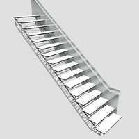 3d structure metal stair