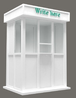3d model of stall info point