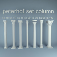 peterhof set column 7 3d model
