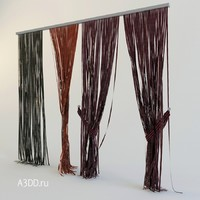 3d model of curtains rope