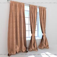 curtains rooms restaurant 3d max