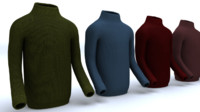 3d model sweater