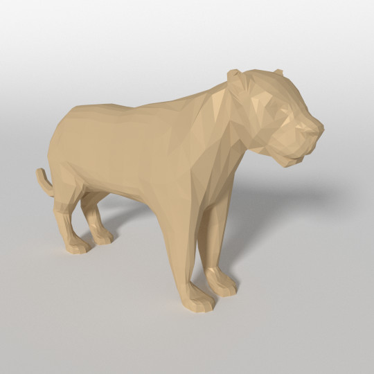 Low Poly Leopard