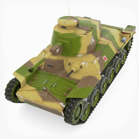 japanese tank type chi-ha 3d model