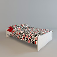 ikea brimnes bed interior 3d 3ds