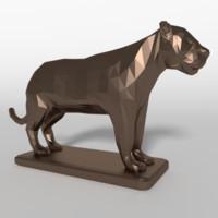 3d obj tiger statue