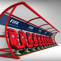 stadium seating reserve bench 3ds