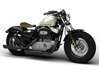 harley-davidson xl1200 sportster forty-eight 3d obj