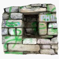 stone niche 3d max