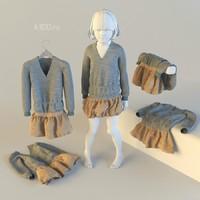 baby dress 3d max