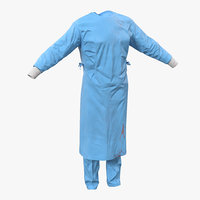 3d model surgeon dress 11 blood