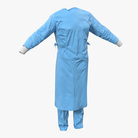 surgeon dress 11 3d c4d