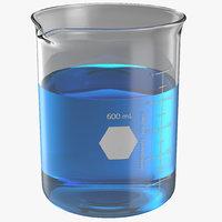 3d 600 ml beaker model