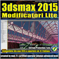 3ds max 2015 Modificatori Lite vol.8.1 cd front