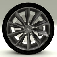 3d model tesla s wheel modeled