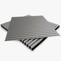 group metal roof sheet 3d model