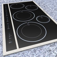 3d model of electrolux cooktop