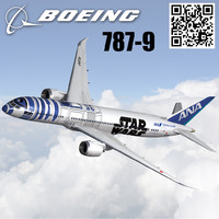 3d model airline ana starwars livery