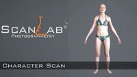 3d theresa female body scan model