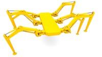 hidraulic hexapod robot 3d 3ds