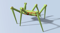 hexapod insect 3d model