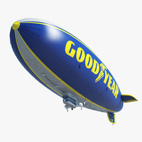 3ds max good year blimp