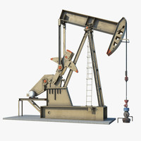 oil pumpjack 3d model