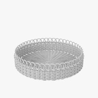 wicker basket v2 3d model