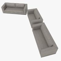 3dsmax sofa minotti