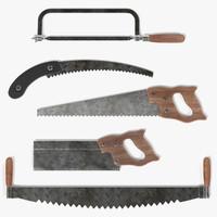 rusty saws 3d obj