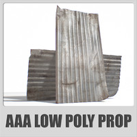 AAA - Old Metal Roof Sheet - (Game ready)