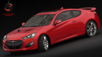 3d model hyundai genesis coupe 3