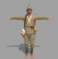 3d japan japanese soldier