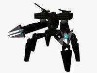 3d battlebot robot mech