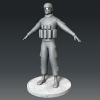 marine corps soldier 3d obj