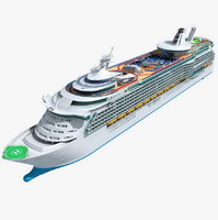 luxury cruise 3d model