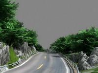 3d mountain road model
