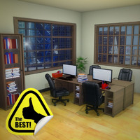 3d complete office scene