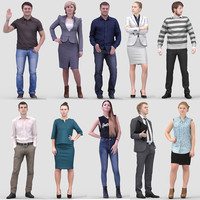 3D Human Model Vol. 1 Standing People