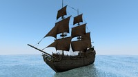 ship black pearl 3d model