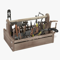 toolbox old tools 3d obj